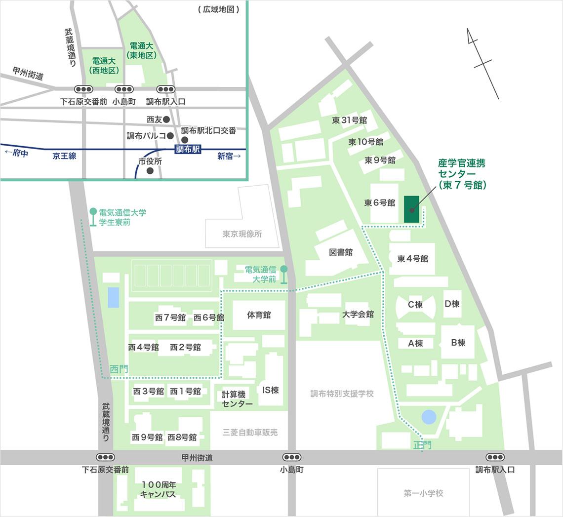 調布オフィス地図