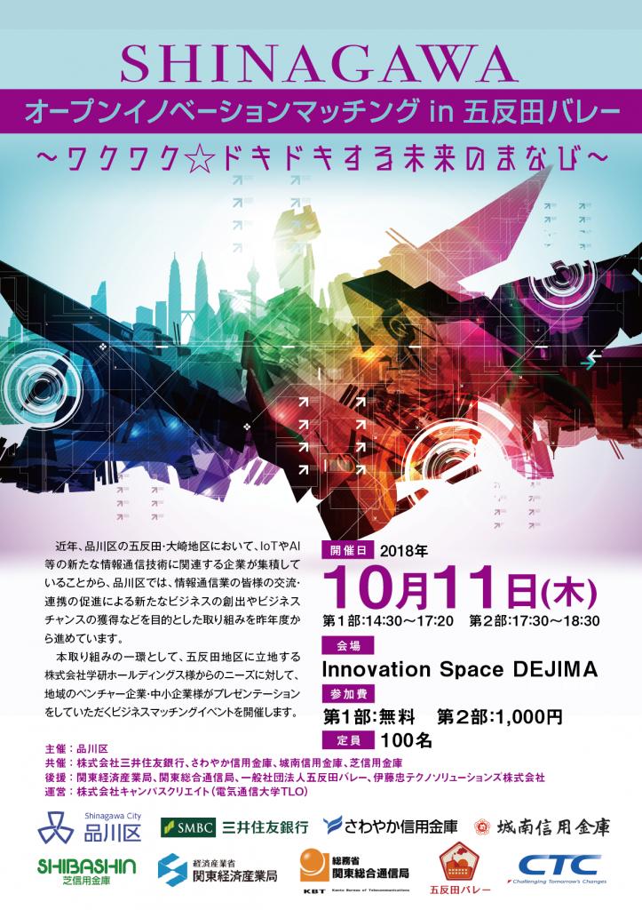 SHINAGAWAオープンイノベーションマッチング in 五反田バレー