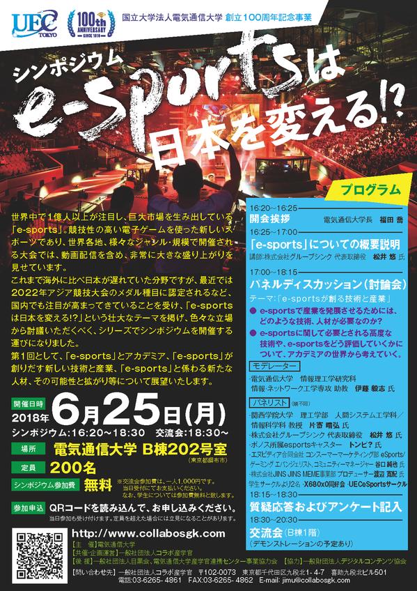 シンポジウム「e-sportsは日本を変える!?」